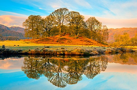 elterwater, lake district, cumbria, england, uk, europe