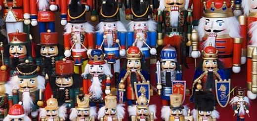 Traditional German wooden Christmas decorations, Berlin, Germany, Europe