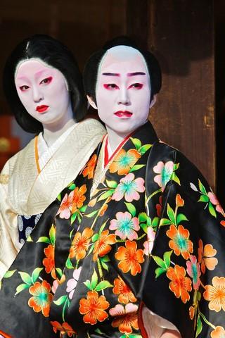 Participants taking part in the Setsubun Rituals at Yasaka Shine