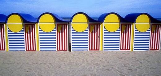 Beach huts, Dunkirk, France