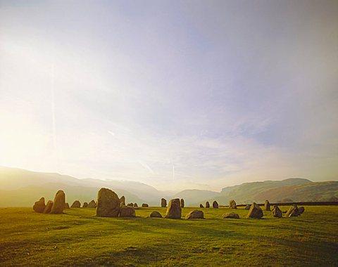 Castlerigg Stone Circle, Keswick, Cumbria, Lake District, England