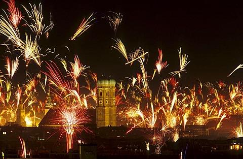 New year fireworks, Germany