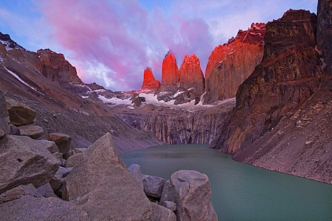 Dawn, Torres del Paine National Park, Patagonia, Chile, South America