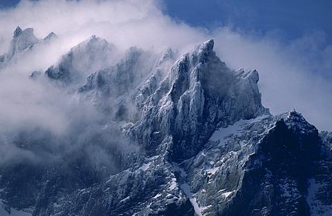 summit of Paine Grande in mist