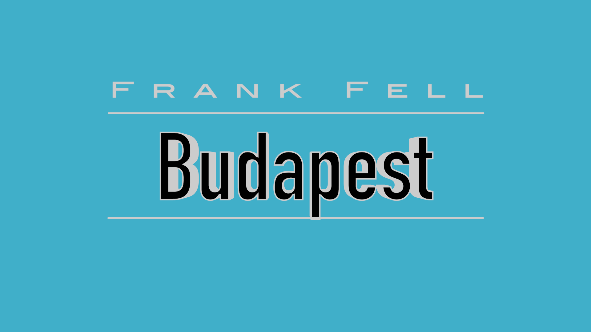 Budapest by Frank Fell