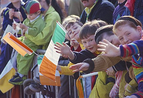 St. Patrick's parade, Patrick Street, Dublin, County Dublin, Eire (Ireland), Europe