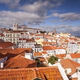 Sao Vicente de Fora Church and the Alfama district in Lisbon, Portugal, Europe