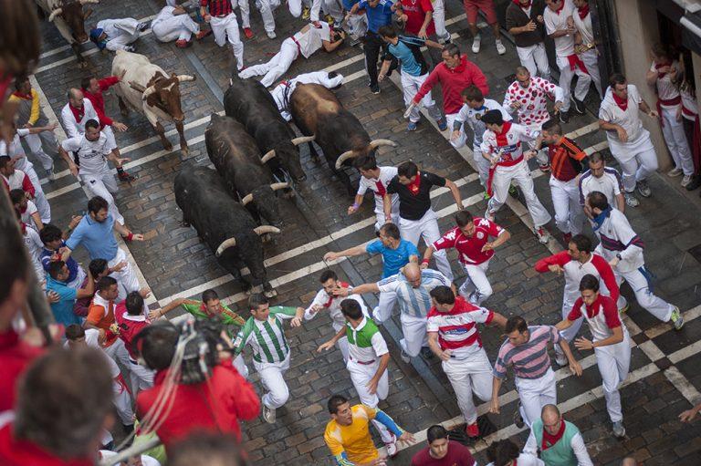 Pamplona's adrenaline-fueled Running of the Bulls festival