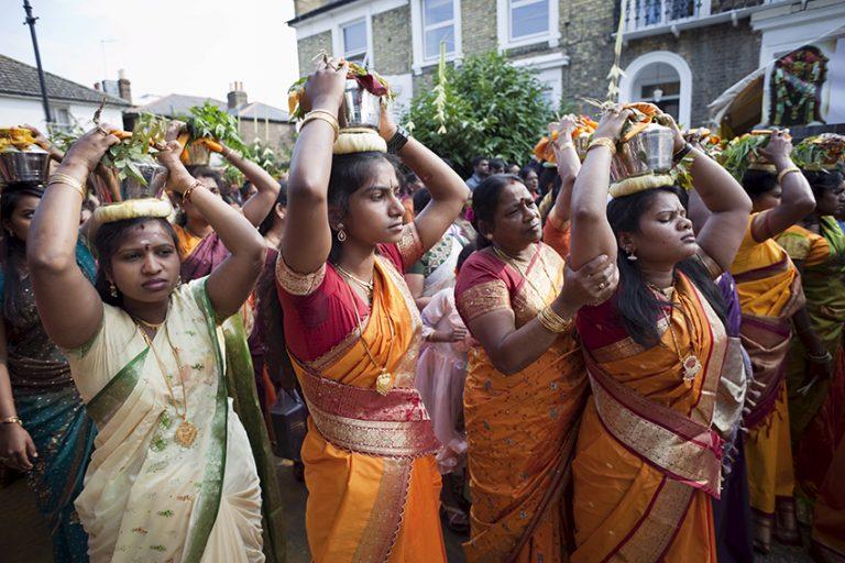 London celebrates colourful Hindu chariot festival