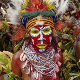 Sing-sing annual tribal gathering, Mount Hagen Cultural Show. Western Highlands, Papua New Guinea