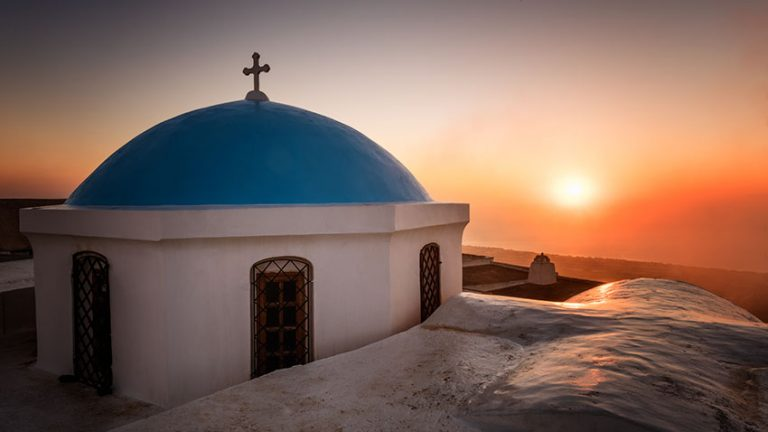 Perfect island sunsets in Santorini
