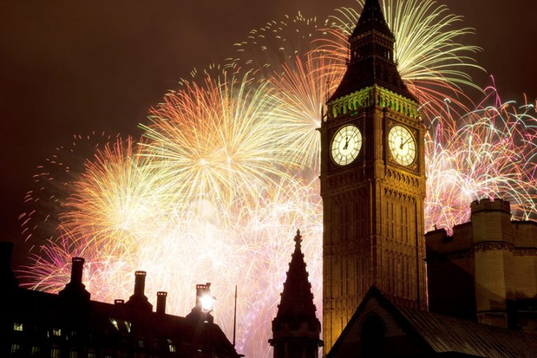 Spectacular New Year's fireworks