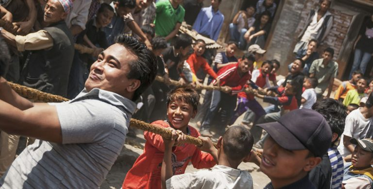 Riotous fun at Nepal's Bisket Jatra festival