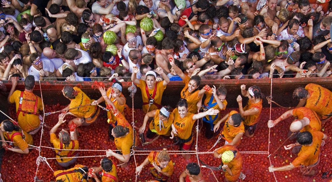La Tomatina – the world's biggest food fight