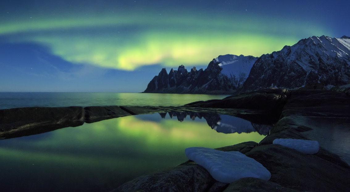 The Aurora Borealis in Norway's wild north by Roberto Moiola