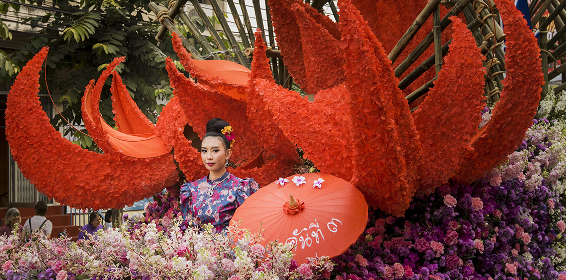The colourful Chiang Mai Flower Festival by Espen Helland