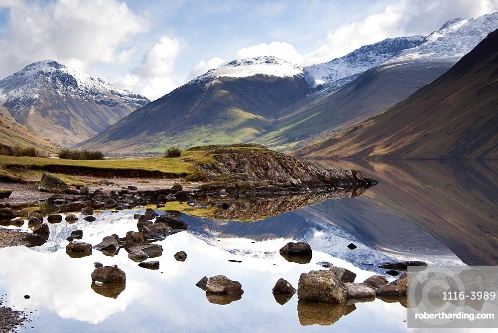 Mountains And Lake At Lake District, Cumbria, England, United Kingdom