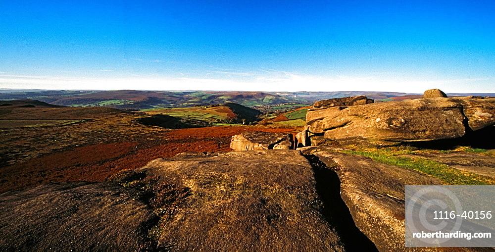 Higger Tor, Peak District National Park, Derbyshire, England, Europe