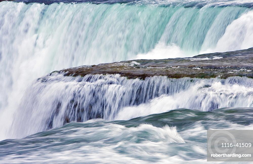 American Falls From Luna Island Viewpoint - Niagara Falls, New York, Usa