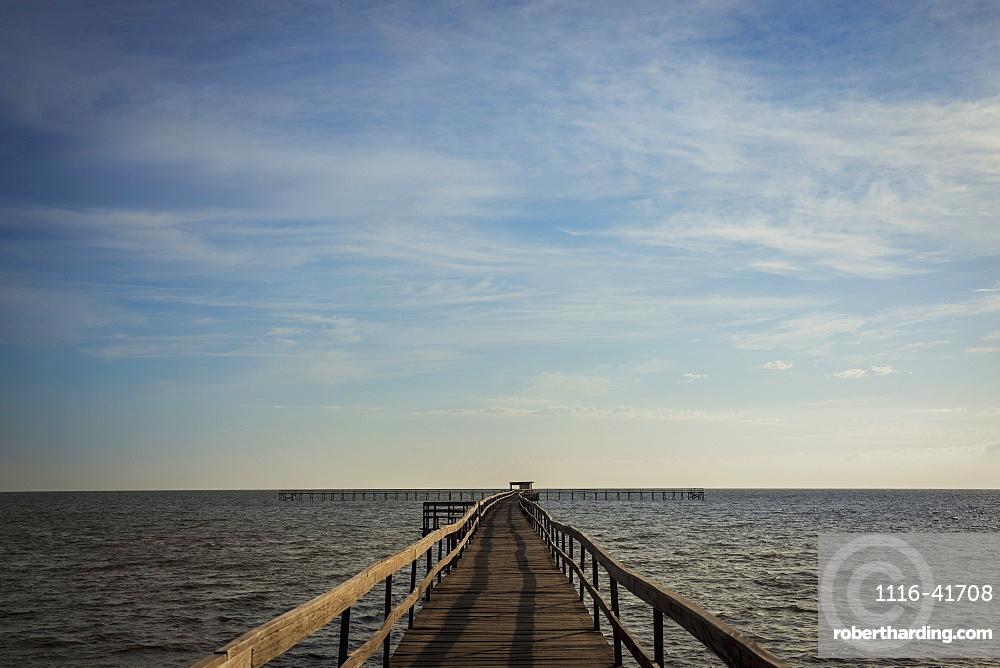 Laranjal pier in lagoa dos patos, Pelotas rio grande do sul brazil