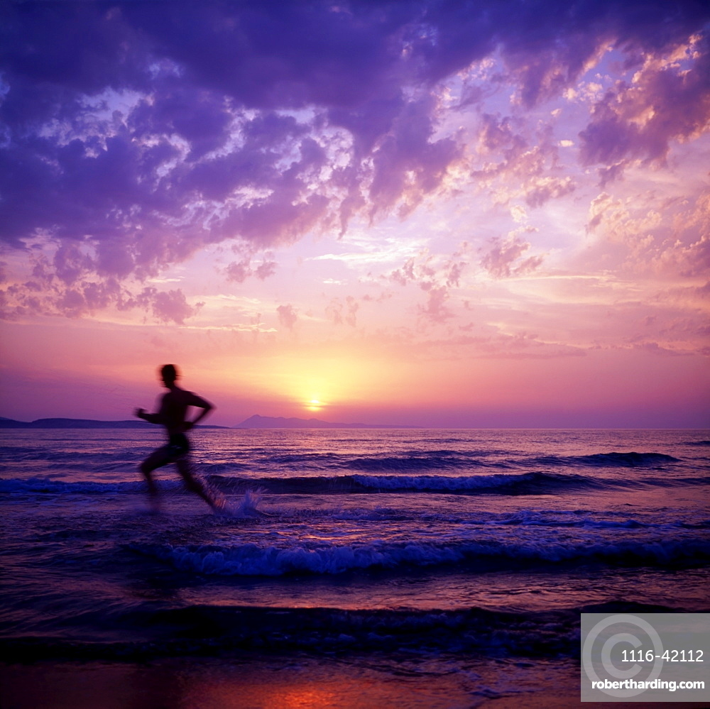 Man Running In The Water