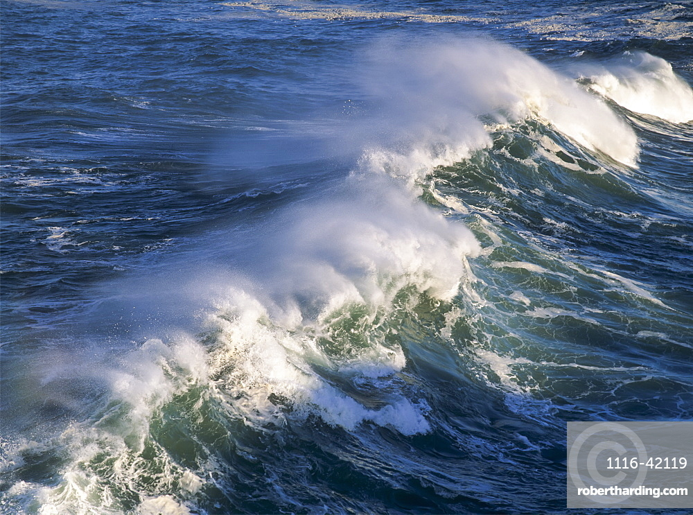 Wave Breaking At Shore Acres State Park, Charleston, Oregon, United States Of America