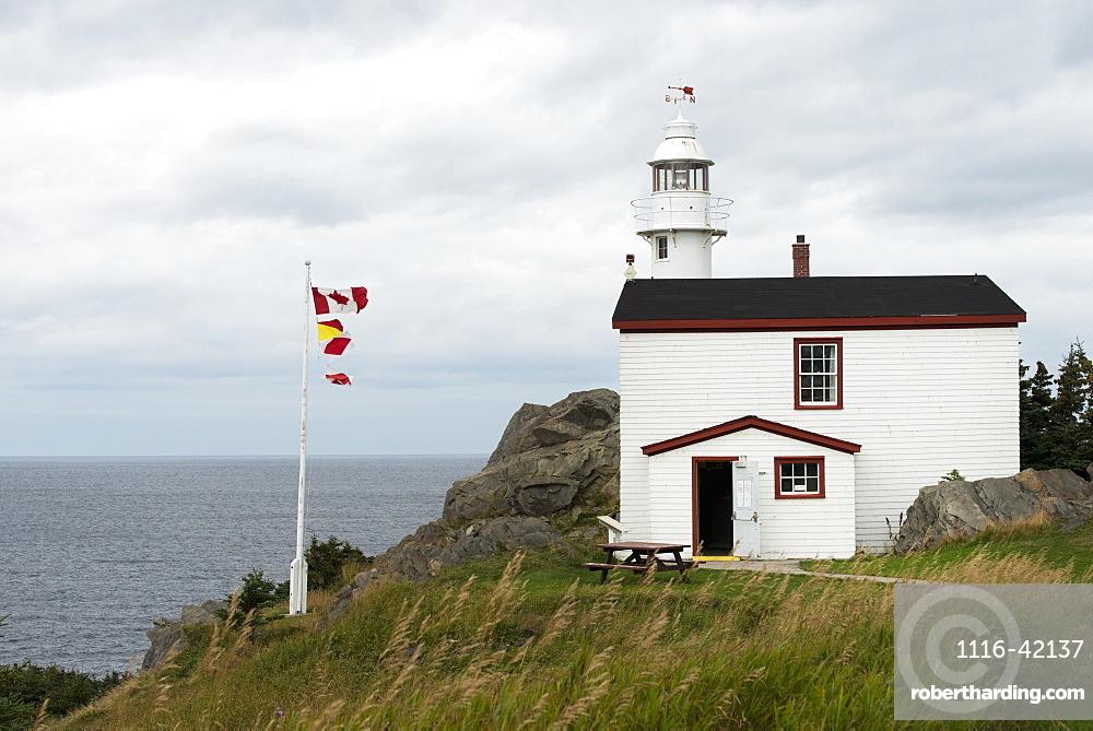 Lobster Cove Head Lighthouse At Gros Morne National Park, Newfoundland And Labrador, Canada