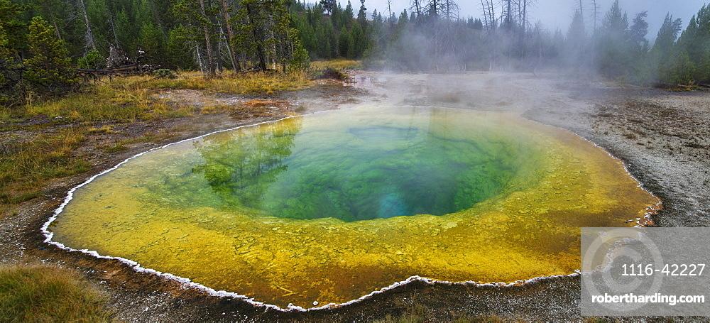 Morning Glory Pool, Upper Geyser Basin, Yellowstone National Park, Wyoming, United States Of America