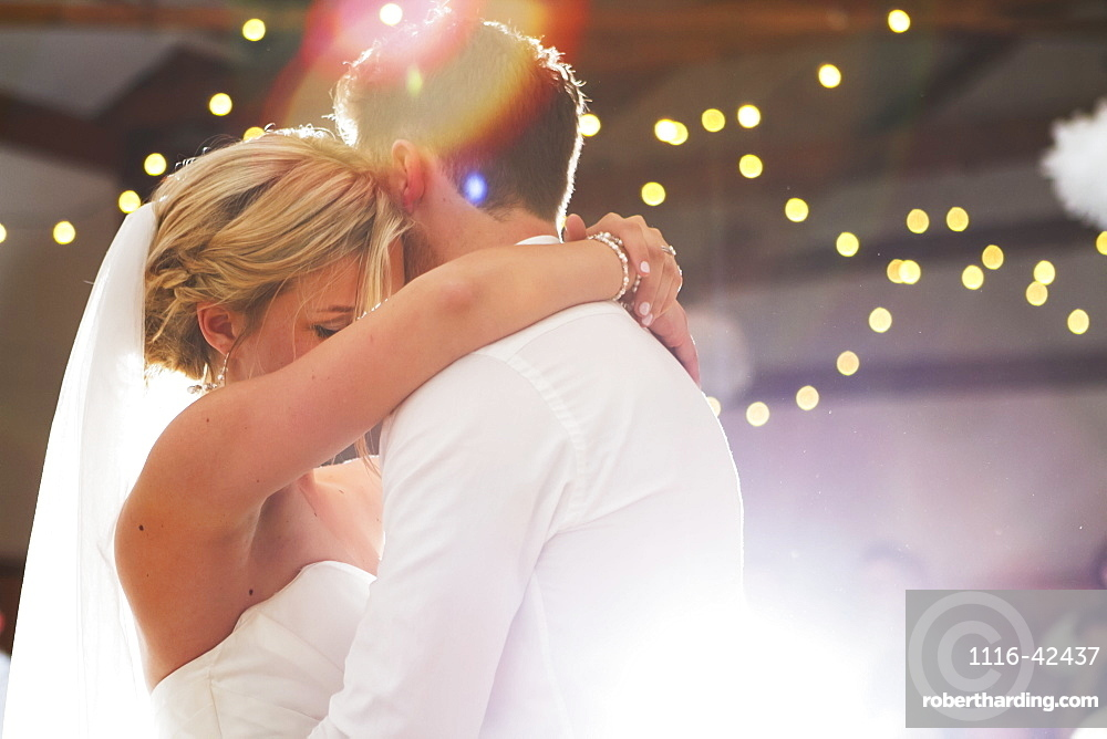 A Couple Dances On Their Wedding Day, British Columbia, Canada