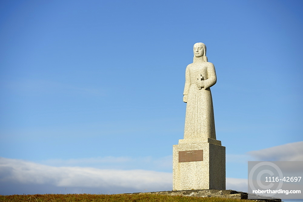 Landsyn, Statue In The Image Of The Angel, Church Of Strandarkirkja, Porlakshofn, Arnessysla, Iceland