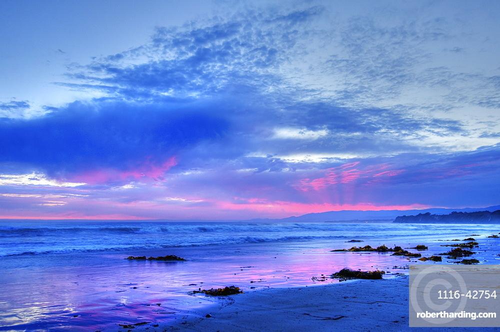 Beautiful Sunset After A Rainstorm, Santa Barbara, California, United States Of America