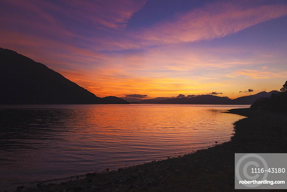Loch Linnhe At Dusk From Onich, Scotland