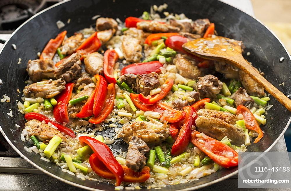 Delicious Paella, Traditional And Famous Spanish Dish, Xiamen, Fujian Province, China