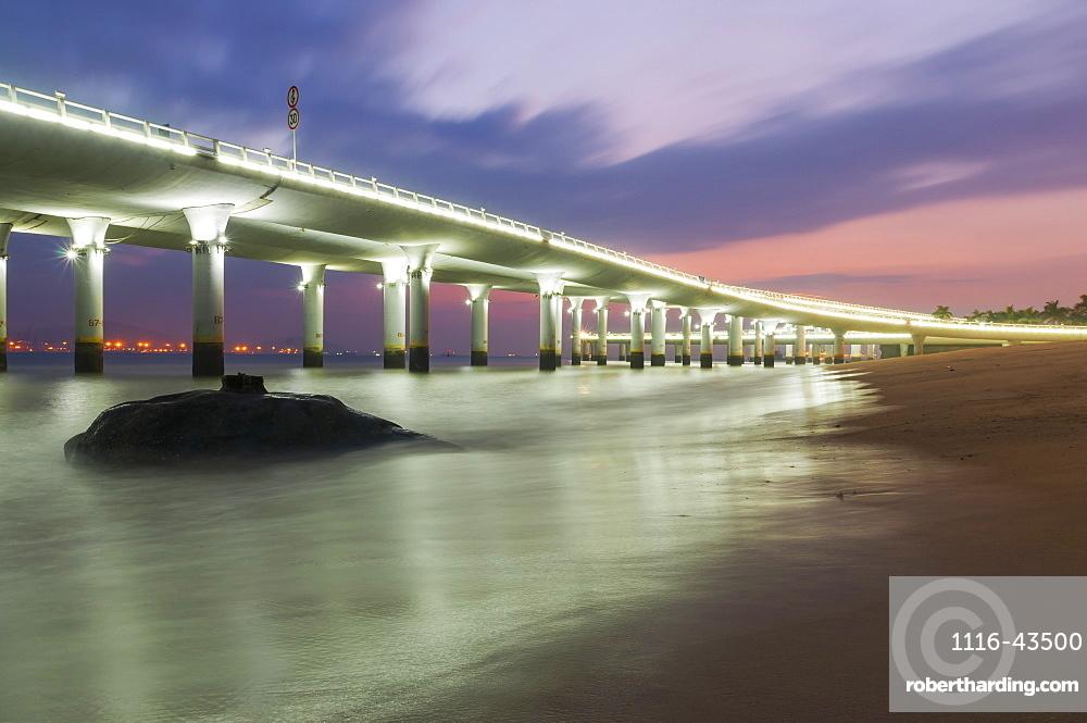 Highway Along The Beach, Xiamen, Fujian Province, China