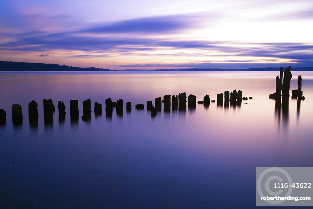 Sunset At Picnic Point, Everett, Washington, United States Of America