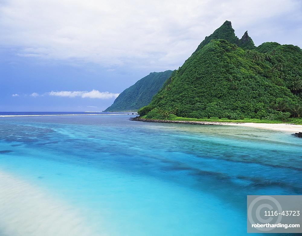 A River Channel Running Through Ofu Island, American Samoa