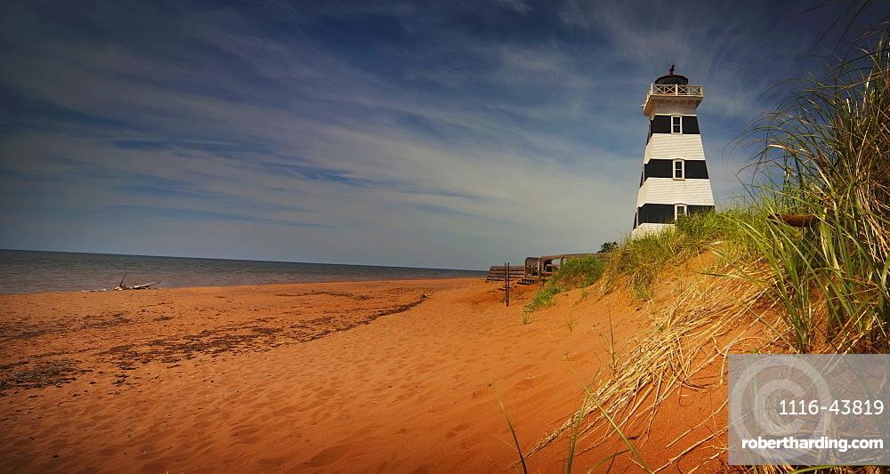 Lighthouse On A Beach, Prince Edward Island, Canada