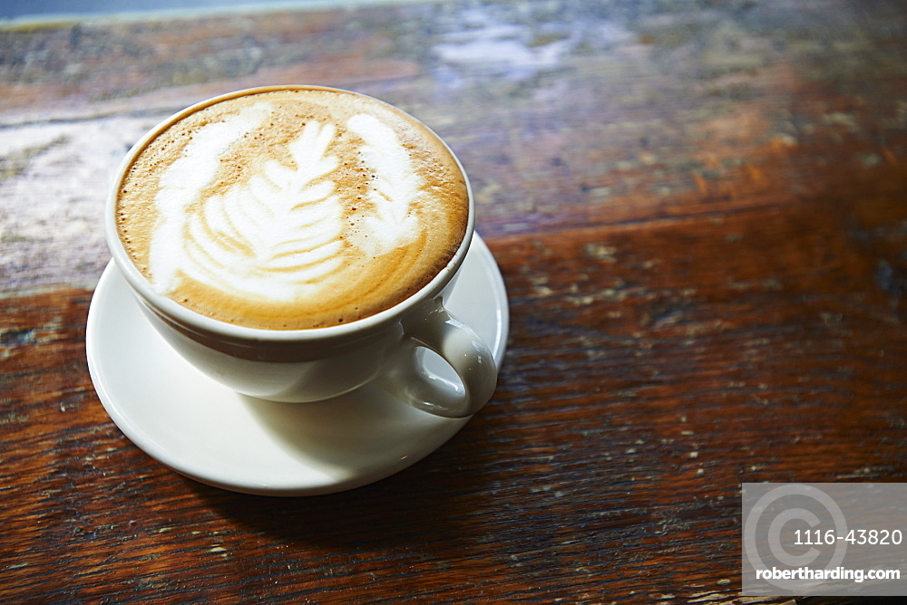 Latte In Lower East Side Coffee Shop, Manhattan, New York City, New York, United States Of America