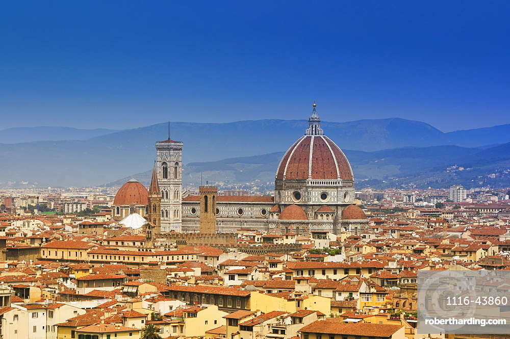 Skyline Of Florence, Italy Showing The Dome Of The Cathedral Of Santa Maria Del Fiore, Florence, Italy