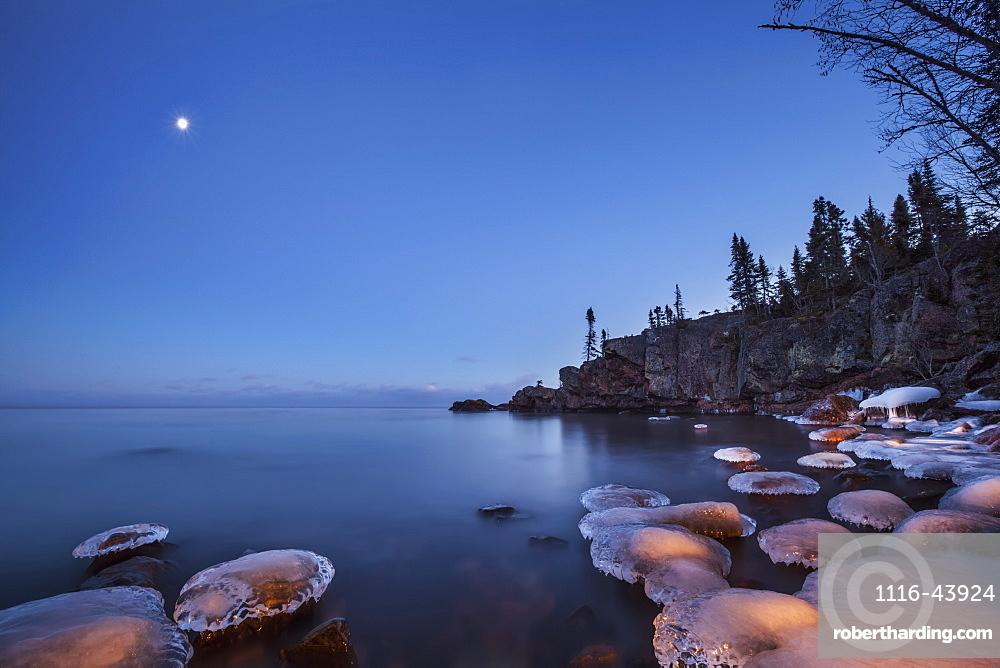 Lake Superior At Dusk, Thunder Bay, Ontario, Canada