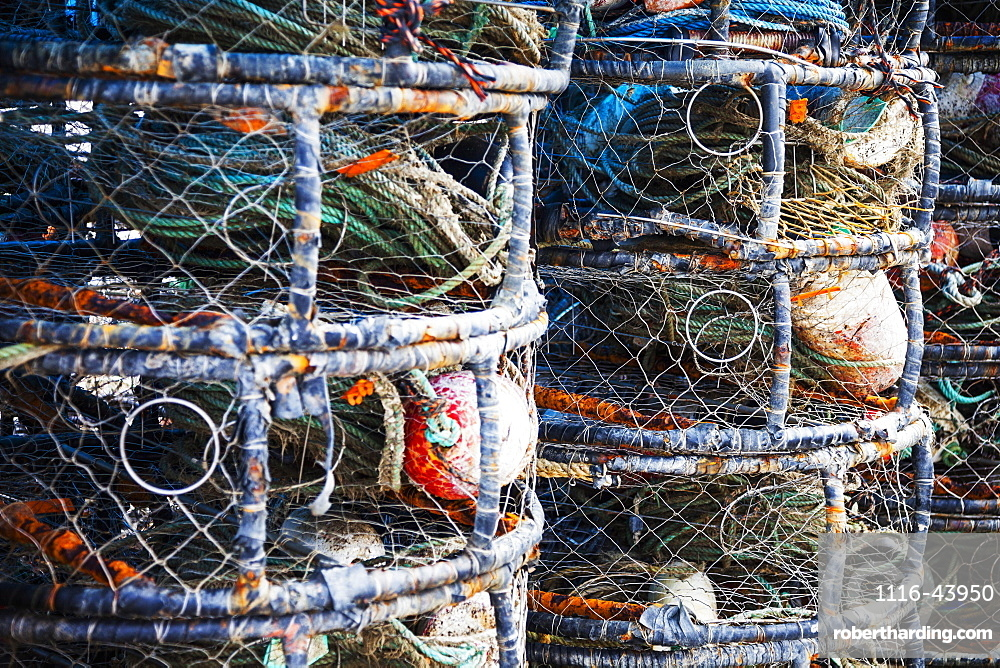 Stacked Fishing Gear In Bodega Bay, California, United States Of America