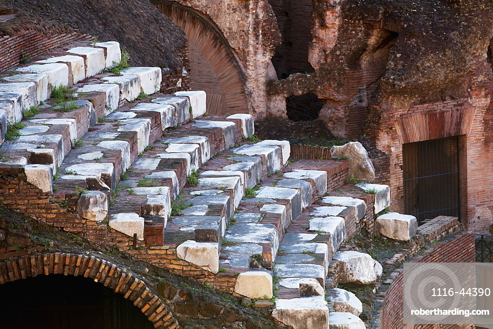 Seating At The Colosseum, Rome, Italy