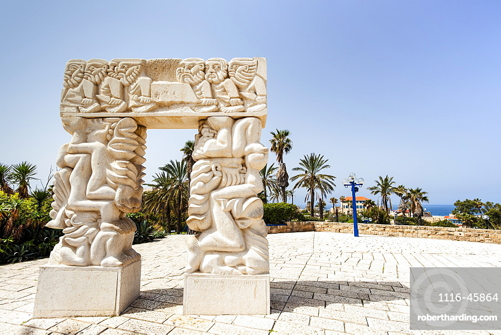 Carved White Stone Structure With Images Of Human Figures, Joppa, Israel