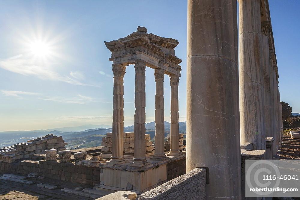 Ruins Of The Temple Of Trajan, Pergamum, Turkey