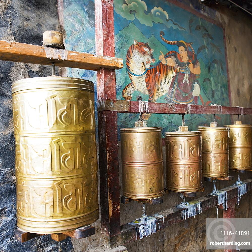 Round bronze objects at the sera monastery, Lhasa xizang china