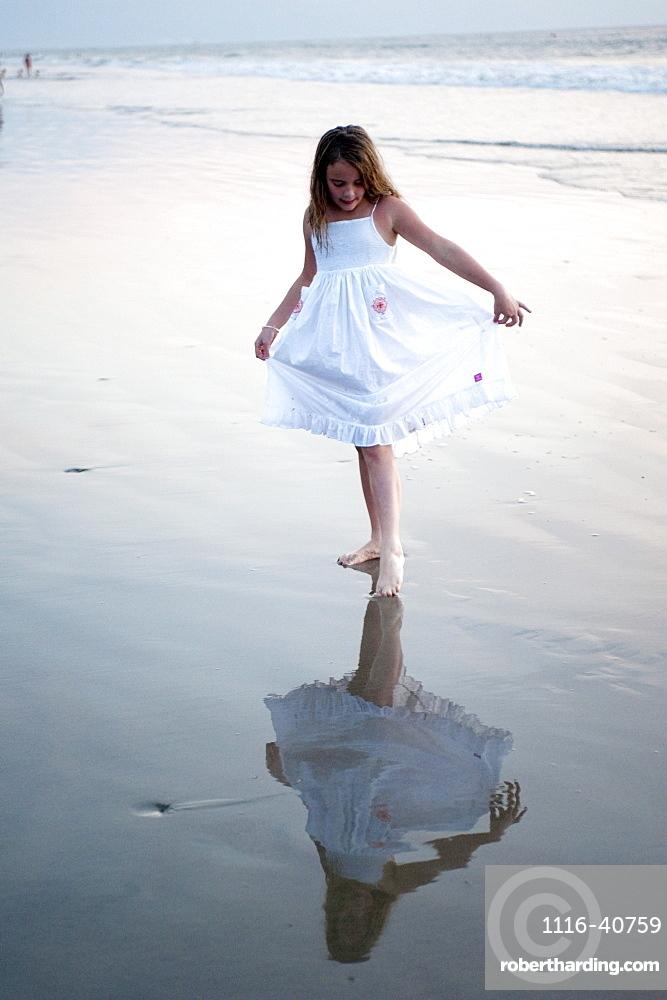 Puerto Vallarta, Mexico, Girl On The Beach