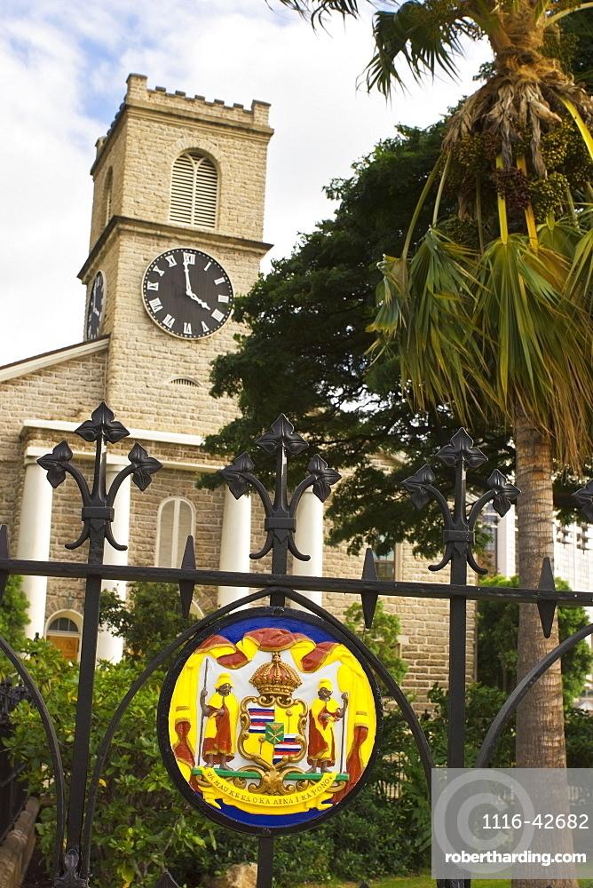 Kawaiahao Church In Historic Downtown Honolulu, Honolulu, Oahu, Hawaii, United States Of America