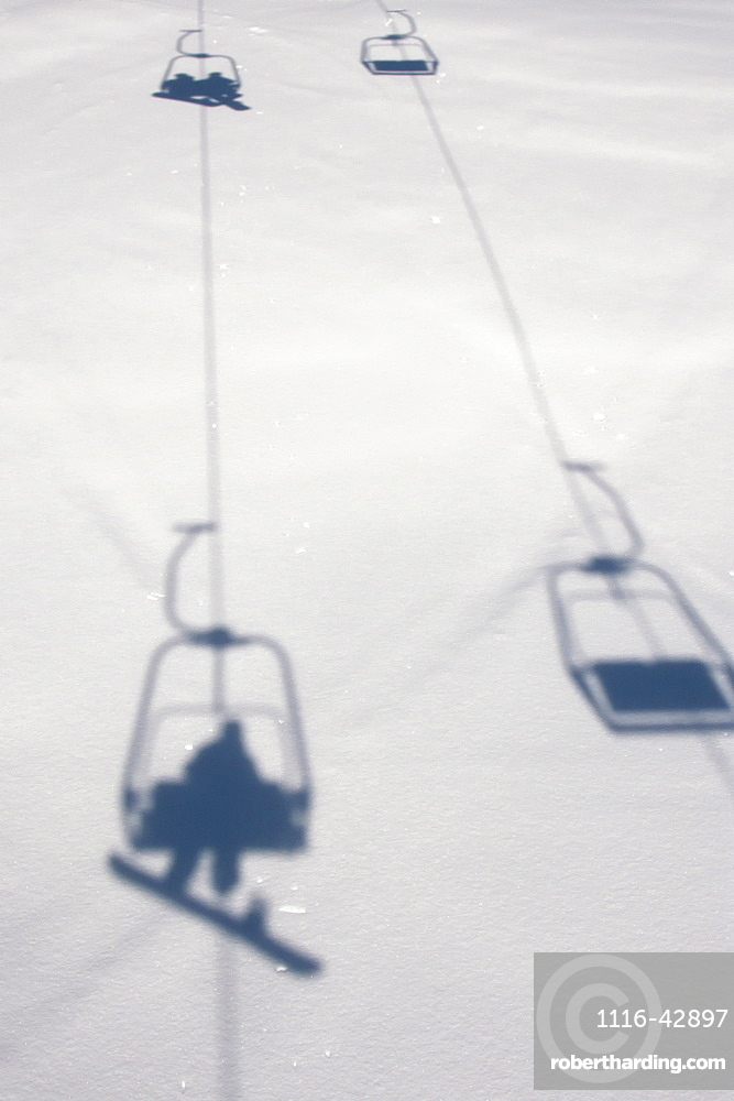 Chairlift At Lech Ski Resort, Austria