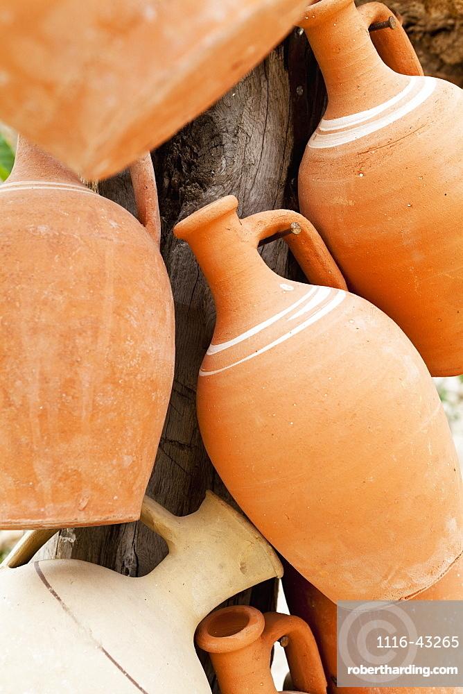 Clay Pots For Sale, Cappadocia, Turkey