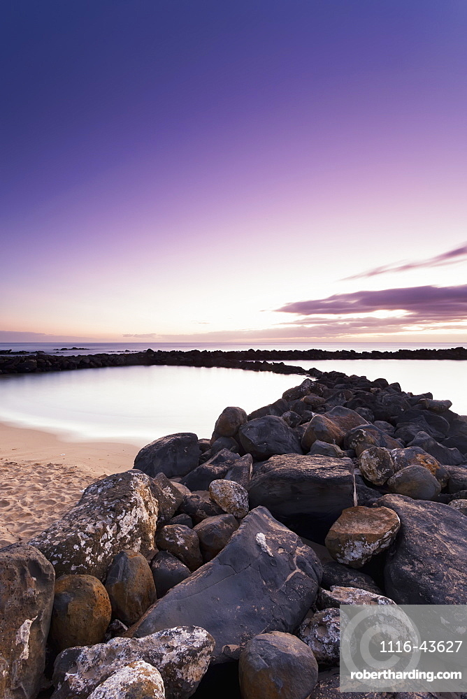 Sunrise From Lydgate Beach Park, Lydgate, Kauai, Hawaii, United States Of America